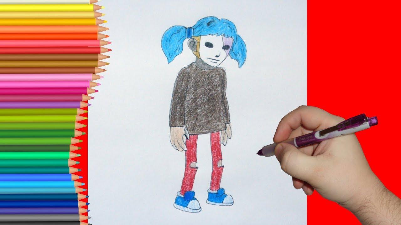 Рисуем Салли Фейс подросток