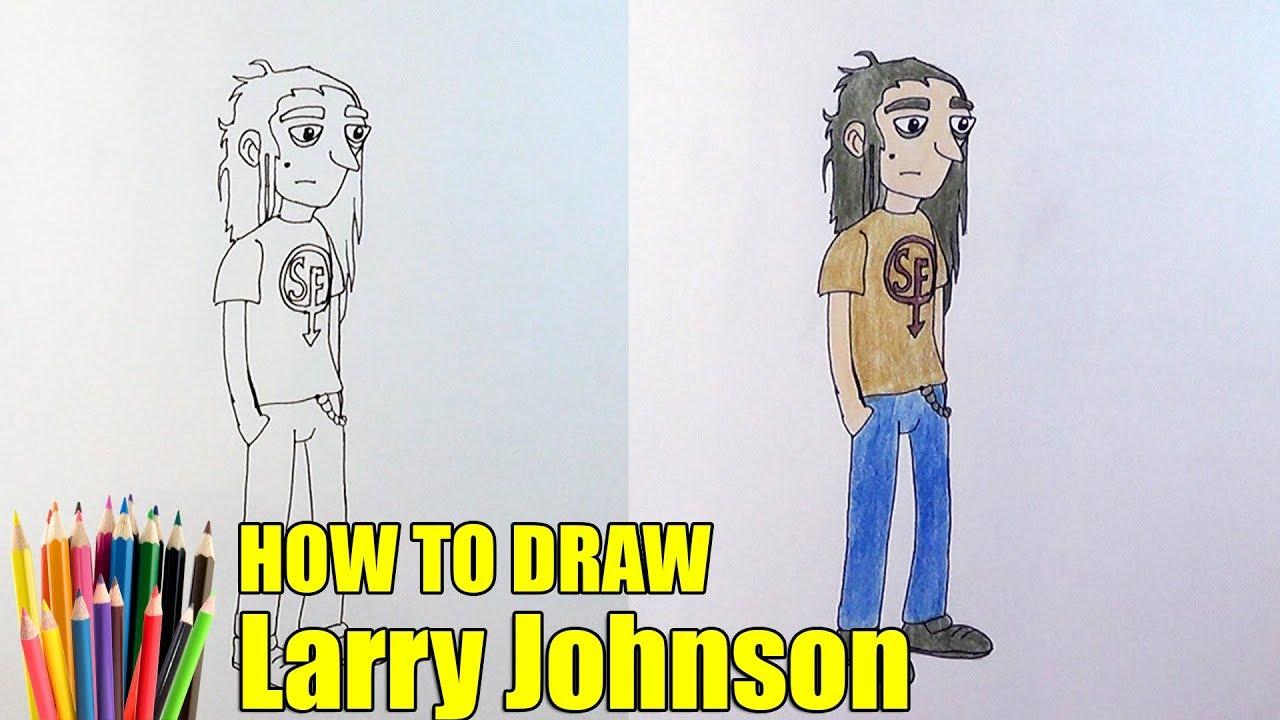 Как нарисовать Ларри Джонсона из Салли Фейс